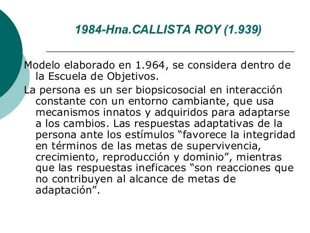 1984-Hna.CALLISTA ROY (1.939)Modelo elaborado en 1.964, se considera dentro de  la Escuela de Objetivos.La persona es un s...