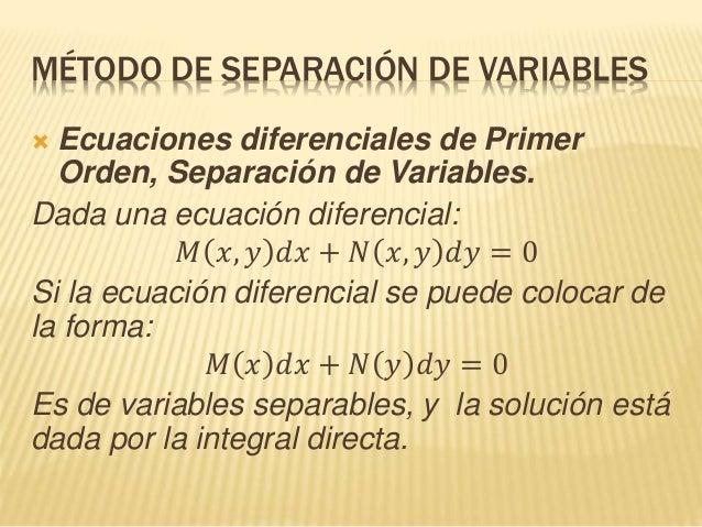 Aplicación de ecuaciones diferenciales, Varaibles separables  Slide 3