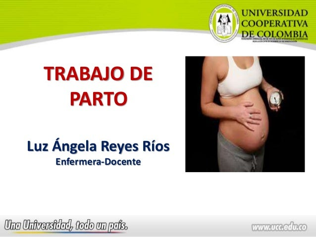 TRABAJO DE PARTO Luz Ángela Reyes Ríos Enfermera-Docente