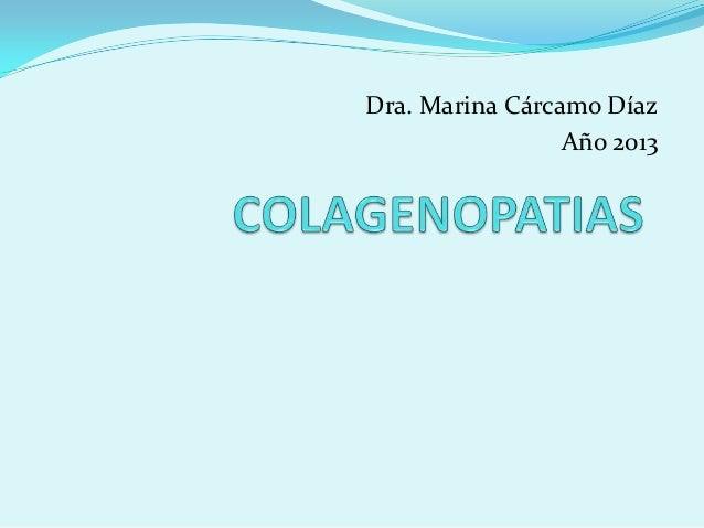 Dra. Marina Cárcamo Díaz Año 2013