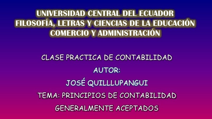 UNIVERSIDAD CENTRAL DEL ECUADOR<br />FILOSOFÍA, LETRAS Y CIENCIAS DE LA EDUCACIÓN<br />COMERCIO Y ADMINISTRACIÓN<br />CLAS...