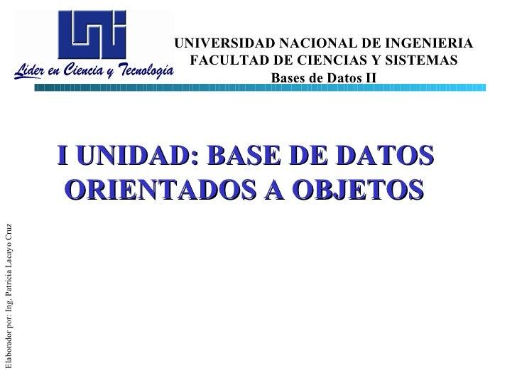 UNIVERSIDAD NACIONAL DE INGENIERIA                                                     FACULTAD DE CIENCIAS Y SISTEMAS    ...