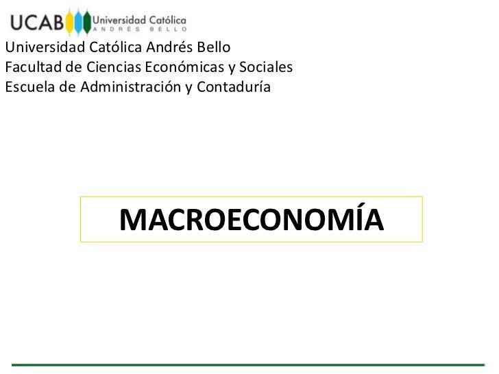 Universidad Católica Andrés BelloFacultad de Ciencias Económicas y SocialesEscuela de Administración y Contaduría         ...