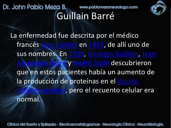 Clases clinica neurologia guillain barre fisioterapia - Barre de slide ...