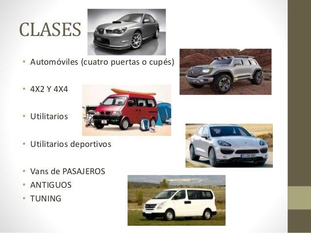 CLASES DE CARROS