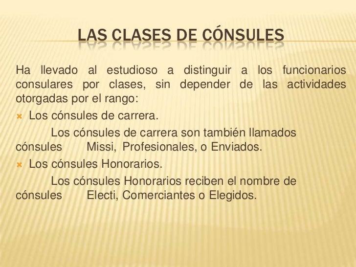 Clases de consules for Que es un consul