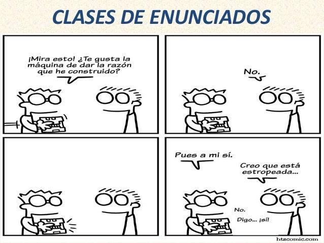 CLASES DE ENUNCIADOS