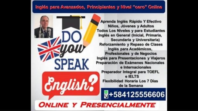 """Profesor Nativo da Clases y Cursos de Inglés Online """"En Vivo"""" y Presencialmente!"""