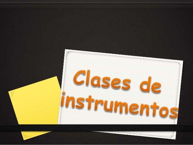 Los instrumentos de medición y control se clasifican según: