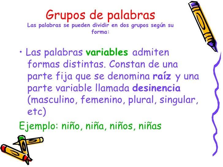 Clases De Palabras  Resumen  Juani