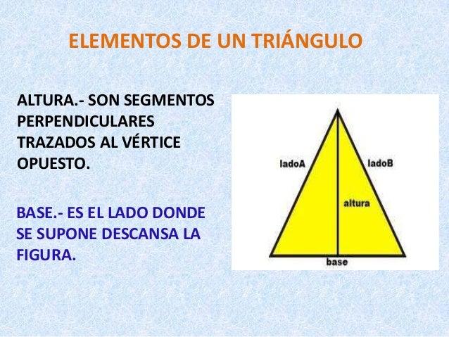 Clases de tri ngulos for Elementos de un vivero