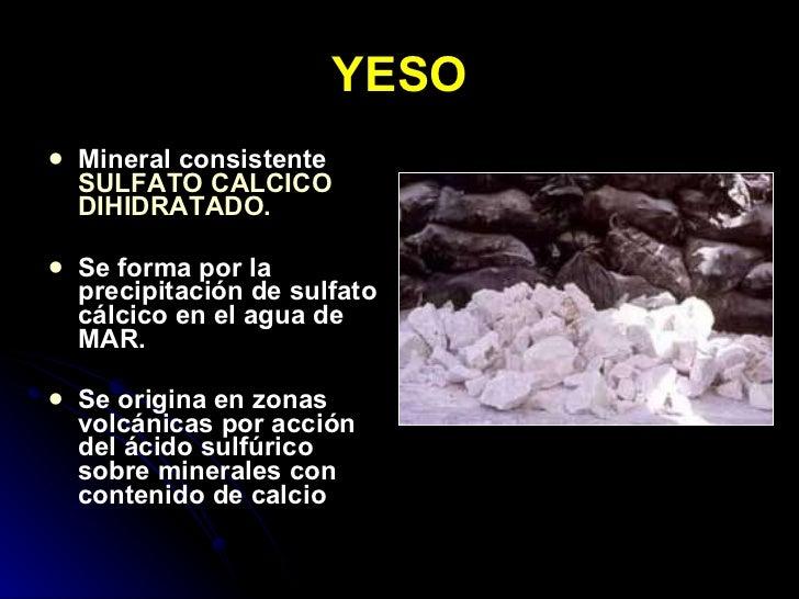 Clases de yesos en odontolog a for De donde se saca el marmol
