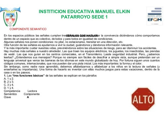 INSTITICION EDUCATIVA MANUEL ELKIN PATARROYO SEDE 1 2. En el tercer párrafo del texto, la autora habla de A. las caracterí...