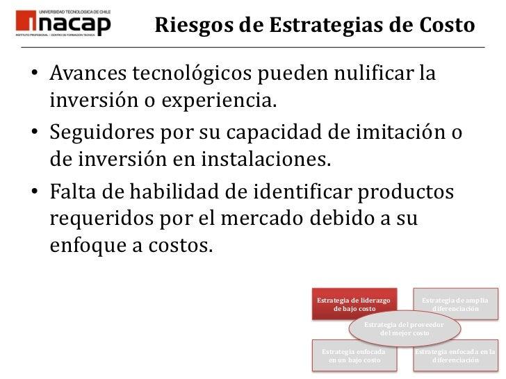 Estrategia de Liderazgo en Costo<br />Economías de escala<br />Políticas de reducción de costos<br />Control estricto en g...