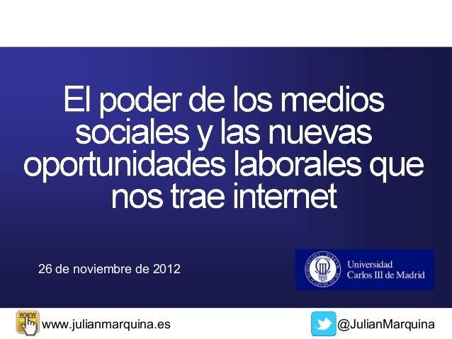 26 de noviembre de 2012www.julianmarquina.es     @JulianMarquina