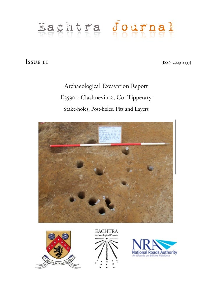 Eachtra JournalIssue 11                                               [ISSN 2009-2237]            Archaeological Excavatio...