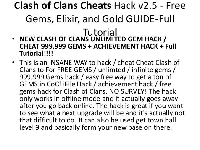 how to get cheats for clash of clans