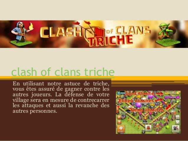 clash of clans triche En utilisant notre astuce de triche, vous êtes assuré de gagner contre les autres joueurs. La défens...