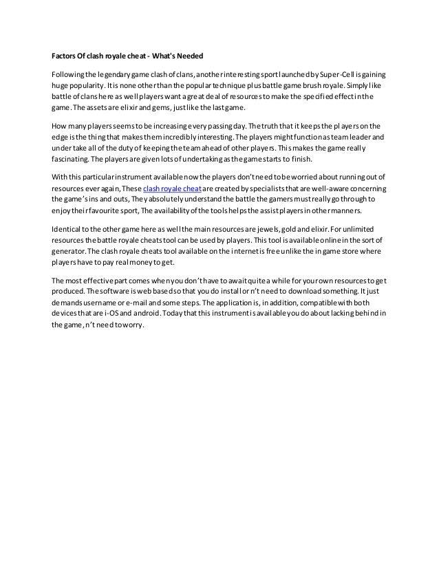 Clash royale hack pdf