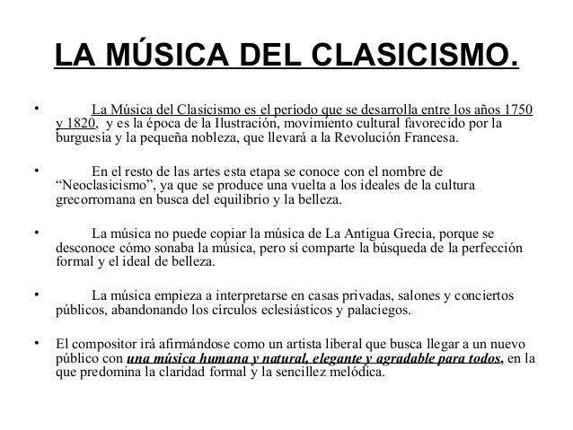Clasicismo musical - Epoca del clasicismo ...