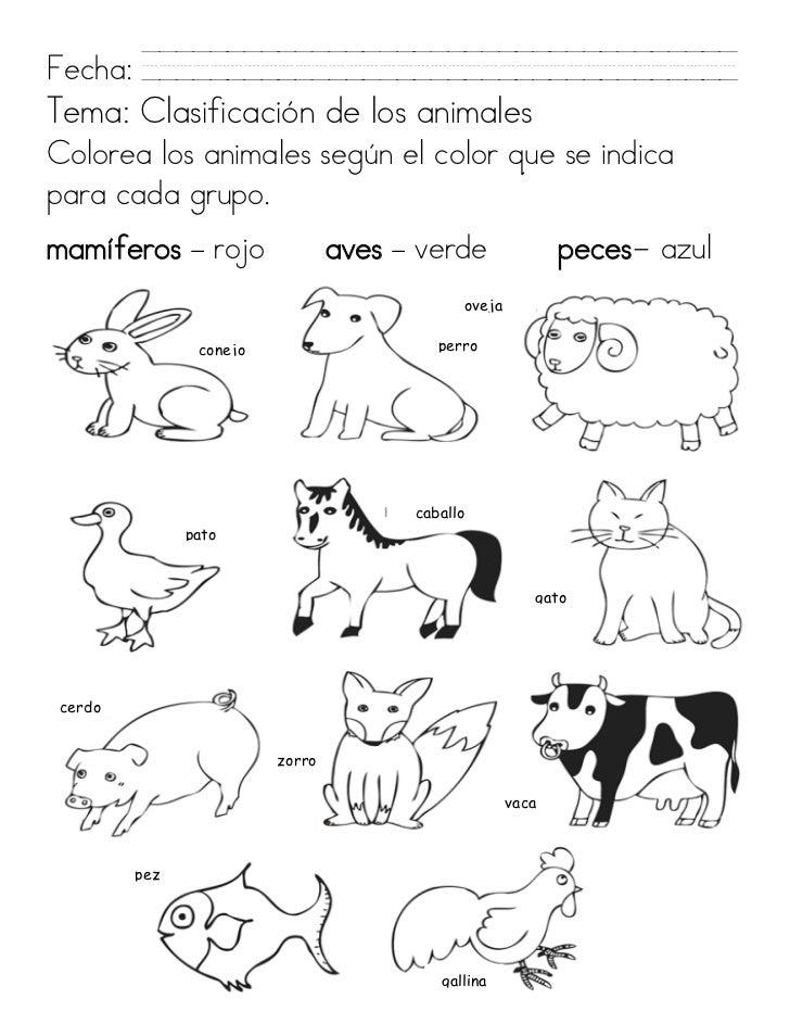 Perfecto Colorear Hojas De Trabajo De Animales Viñeta - Dibujos Para ...