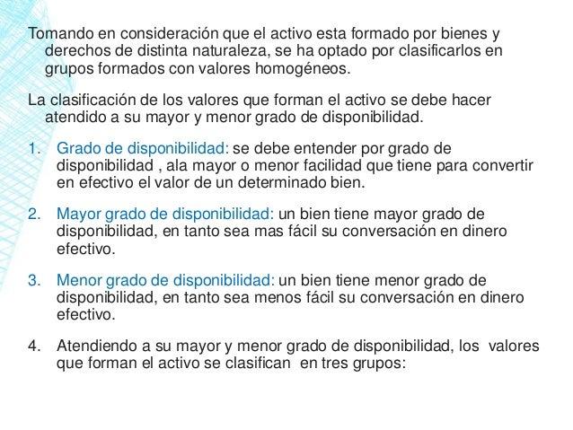 Clasificacion Del Activo Y Pasivo