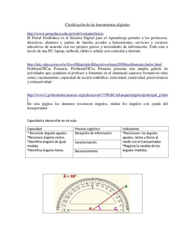 Clasificación de las herramientas digitaleshttp://www.perueduca.edu.pe/web/visitante/inicioEl Portal PerúEduca es el Siste...