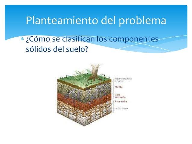 clasificaci n de los componentes solidos del suelo