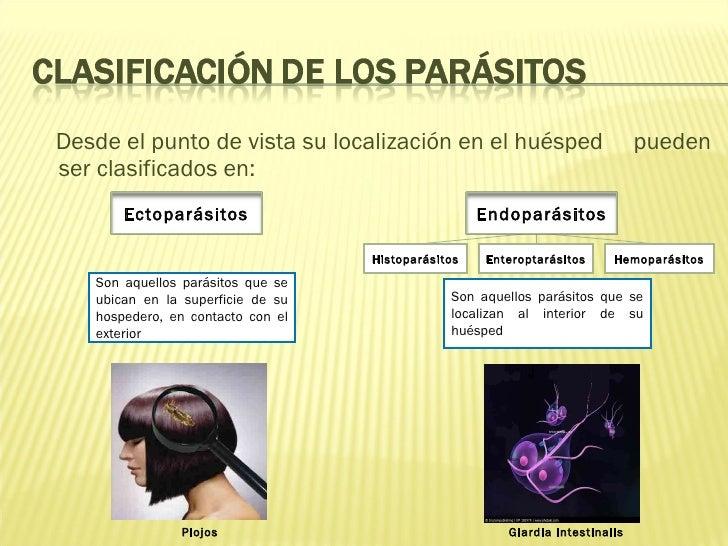 <ul><li>Desde el punto de vista su localización en el huésped  pueden ser clasificados en: </li></ul>Son aquellos parásito...