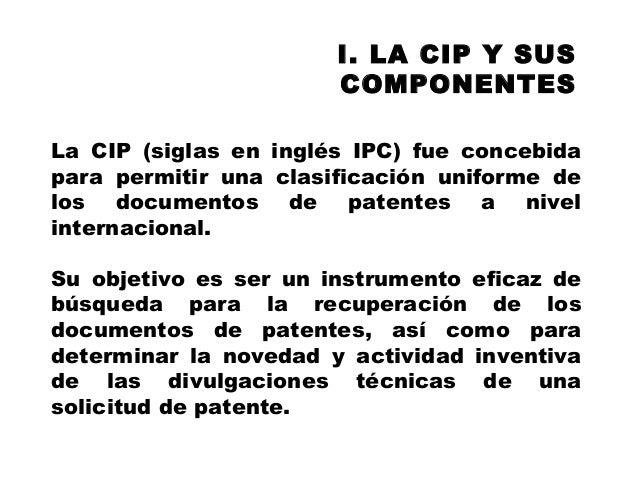 Clasificación de patentes y su utilidad. INAPI Slide 2