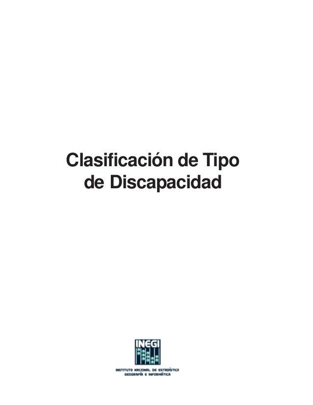 Clasificación de Tipo  de Discapacidad