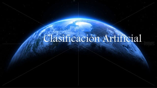 Clasificación Artificial