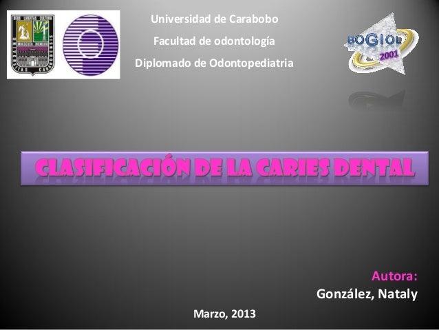 Universidad de Carabobo   Facultad de odontologíaDiplomado de Odontopediatria                                       Autora...