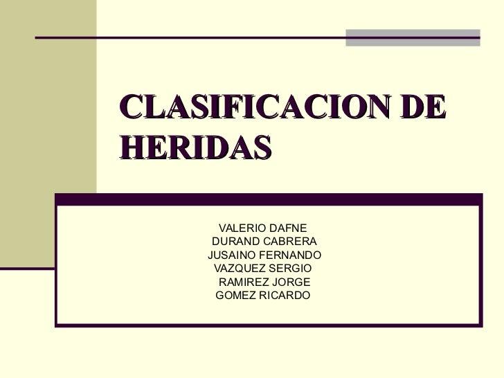 CLASIFICACION DEHERIDAS      VALERIO DAFNE     DURAND CABRERA    JUSAINO FERNANDO     VAZQUEZ SERGIO      RAMIREZ JORGE   ...