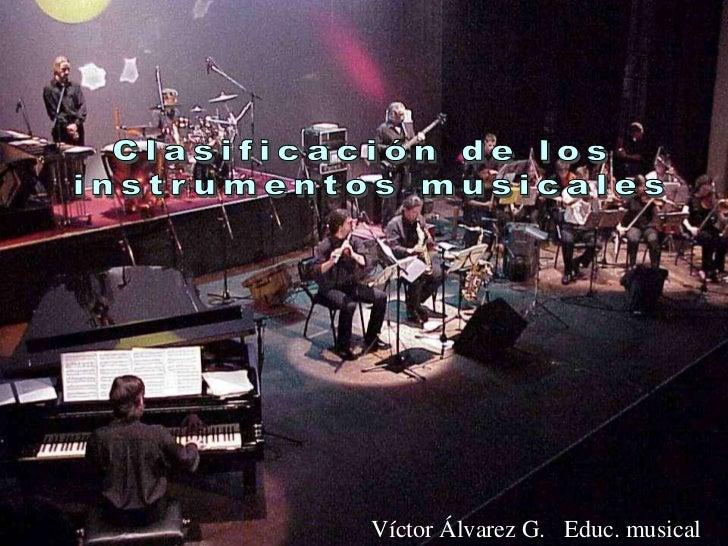 Víctor Álvarez G. Educ. musical