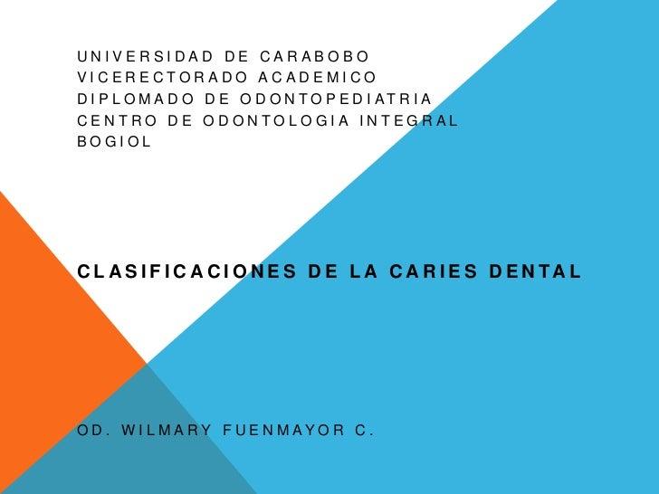 UNIVERSIDAD DE CARABOBOVICERECTORADO ACADEMICOD I P L O M A D O D E O D O N T O P E D I AT R I ACENTRO DE ODONTOLOGIA INTE...