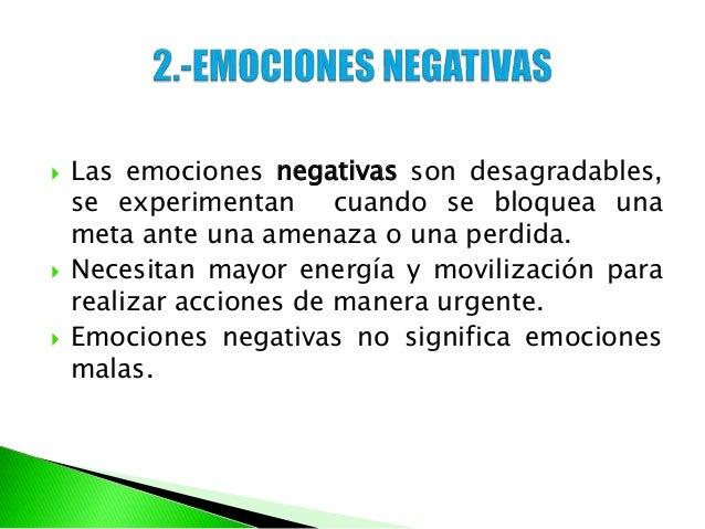 Clasificacion de las emociones - Energias positivas y negativas ...