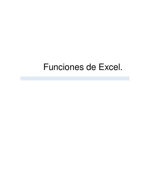 Funciones de Excel.