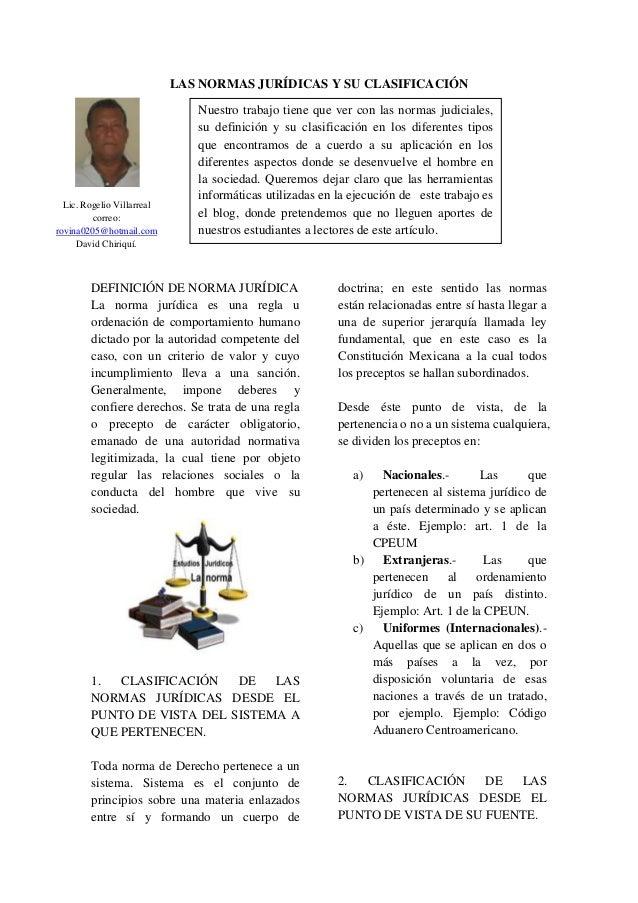 Clasificacion de las normas juridicas (1)
