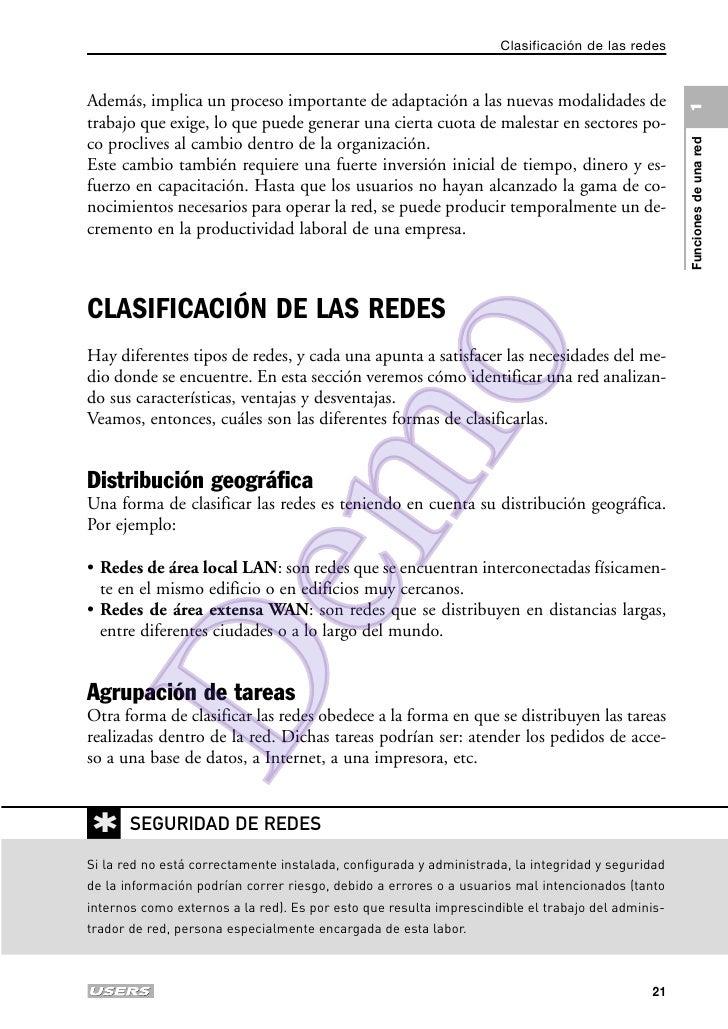 Clasificación de las redesAdemás, implica un proceso importante de adaptación a las nuevas modalidades de                 ...