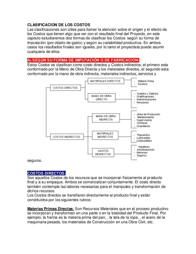 CLASIFICACION DE LOS COSTOS Las clasificaciones son útiles para llamar la atención sobre el origen y el efecto de los Cost...