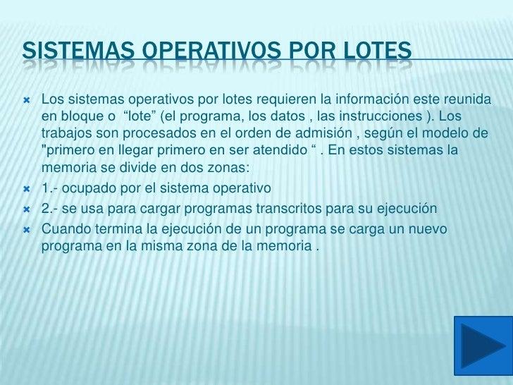Clasificaciones De Sistemas Operativos Slide 2