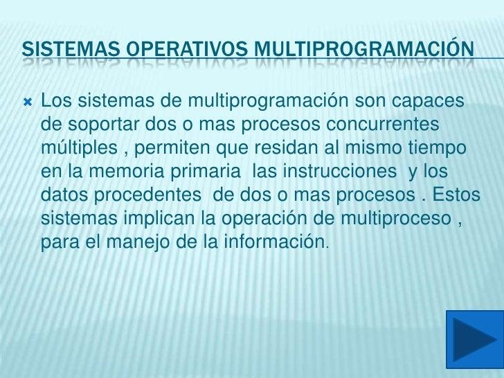 Clasificaciones De Sistemas Operativos Slide 3