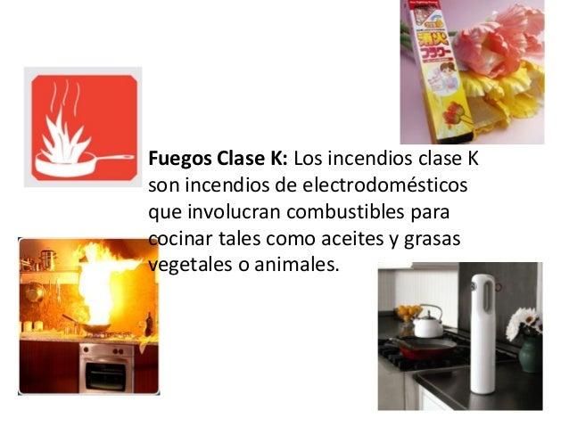 Clasificacion extintores Clasificacion de equipo de cocina