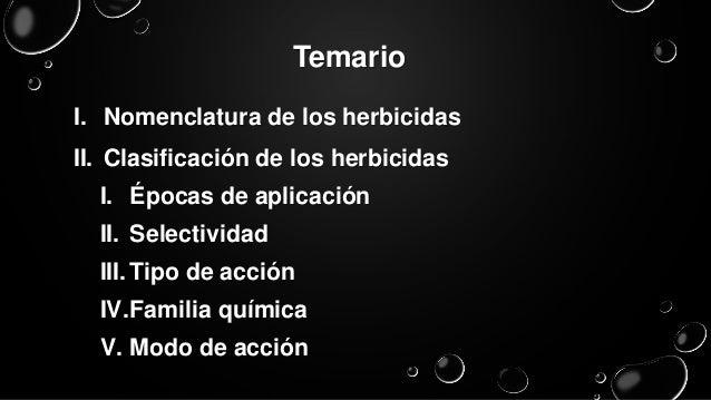 Clasificación de herbicidas Slide 2