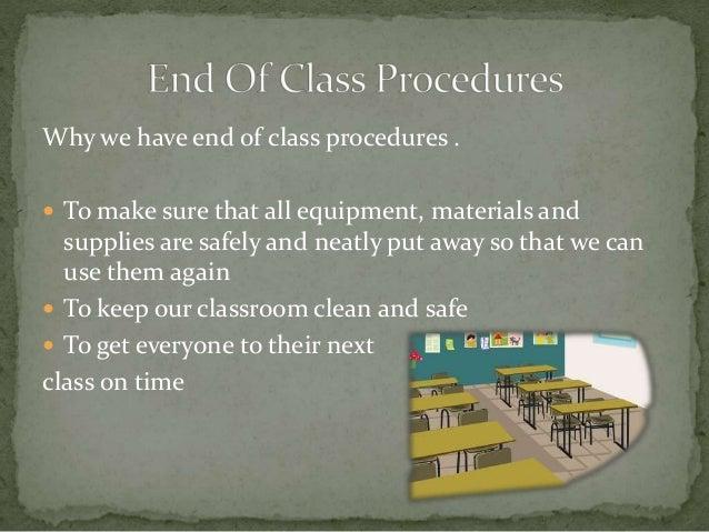 Math Classroom Procedures