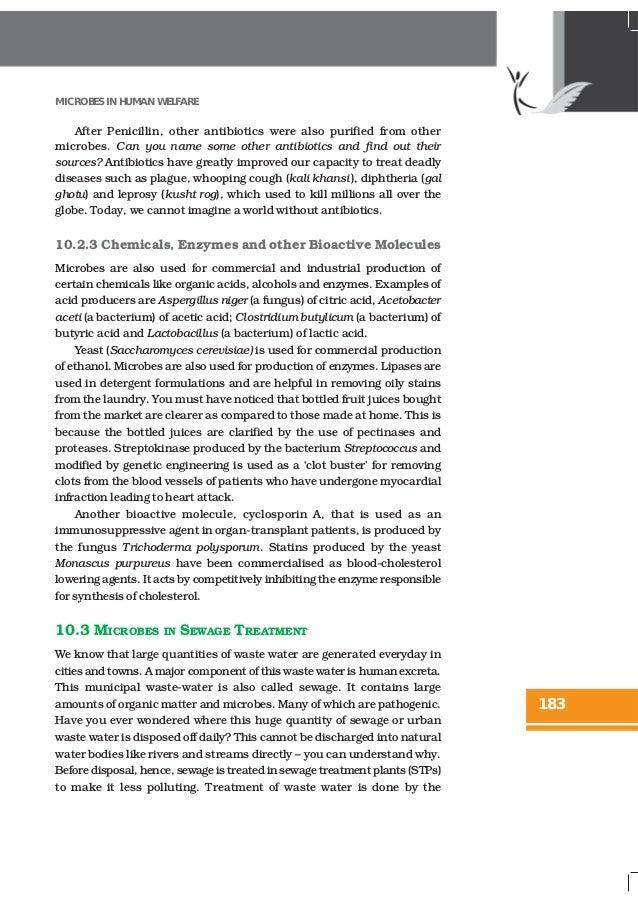 NCERT Books Class 12 Biology Chapter 10 Microbes in Human