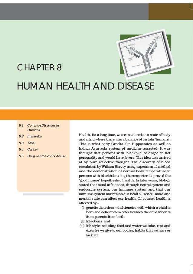 NCERT Books Class 12 Biology Chapter 8 Human Health and Disease