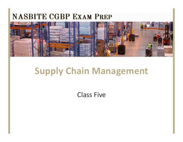 SupplyChainManagementClassFive