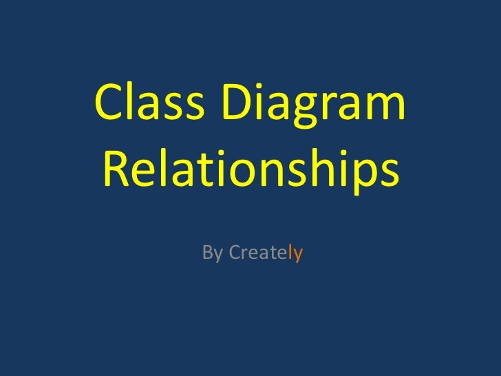 Class DiagramRelationships    By Creately